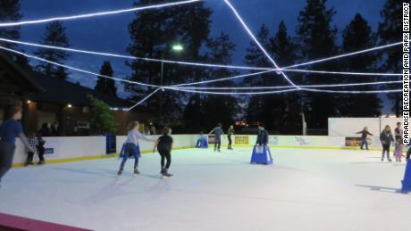 The ice rink in Paradise, California, attracts more than 20,000 skaters each season, an official says.