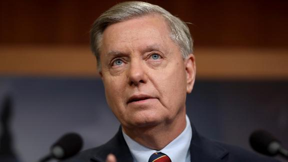Sen. Lindsey Graham (R-SC) speaks during a press conference at the U.S. Capitol on December 20, 2018 in Washington, DC. (Win McNamee/Getty Images)