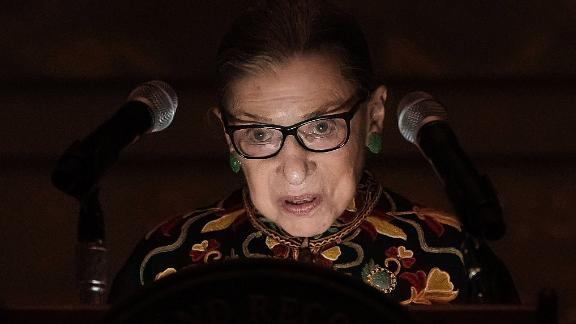 WASHINGTON, DC - DECEMBER 14:  U.S. Supreme Court Justice Ruth Bader Ginsburg speaks during a naturalization ceremony at the Rotunda of the National Archives December 14, 2018 in Washington, DC. The National Archives held the ceremony to mark the Bill of Rights Day.  (Photo by Alex Wong/Getty Images)
