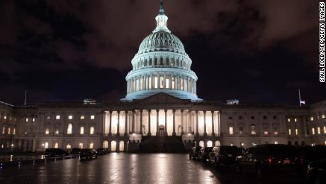 The US Capitol is seen ahead of a possible government shutdown, in Washington, DC, December 21, 2018. - The US House of Representatives adjourned on December 21 without Congress passing a spending deal, assuring a partial government shutdown at midnight as President Donald Trump and lawmakers remain at odds over border wall funding.