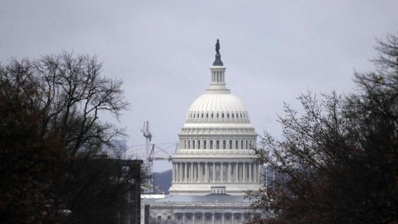 Heavy skies drop rain on the U.S. Capitol December 21, 2018 in Washington, DC.