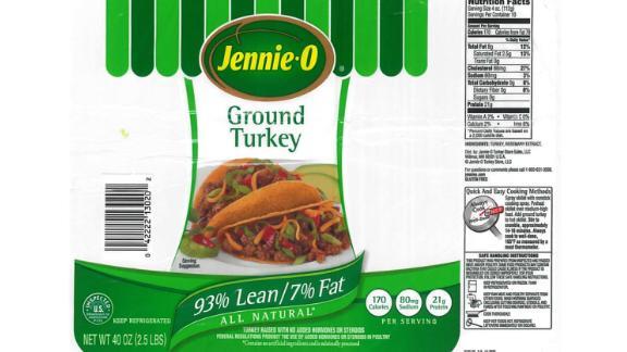 Jennie-O Turkey Store Sales Inc. recalled 164,210 pounds of raw ground turkey products.