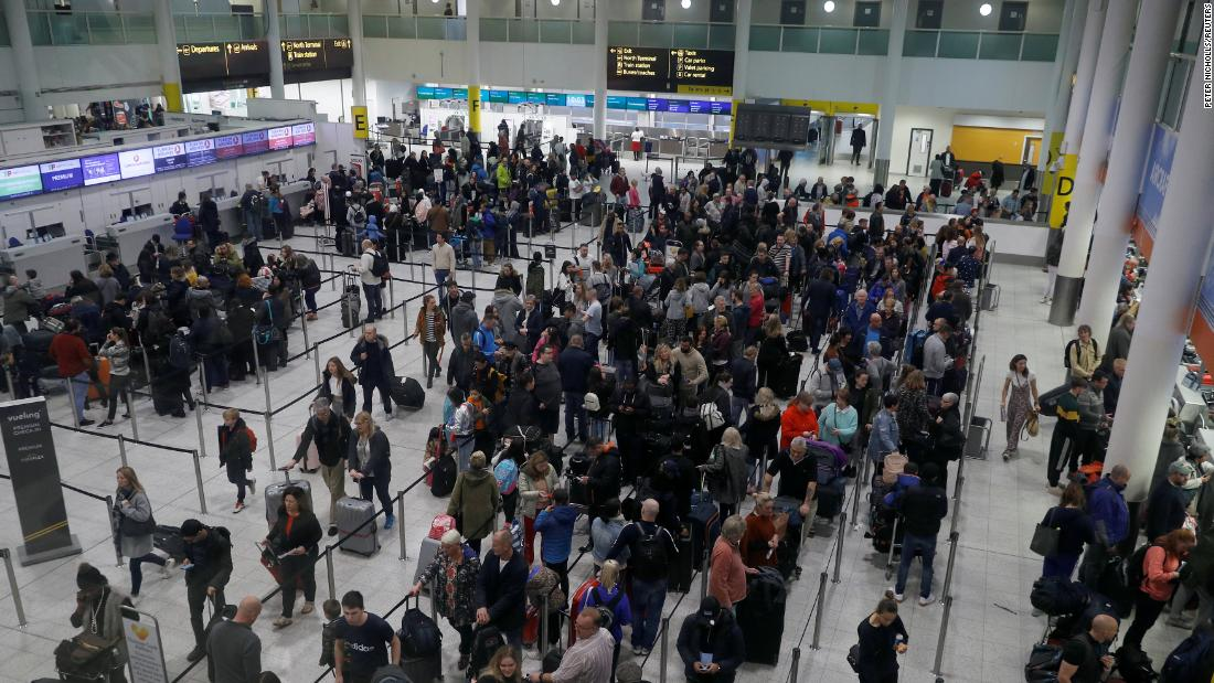 Gatwick Airport is slowly getting back to normal on one of the busiest travel weekends of the year.