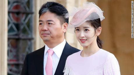 "JD.com founder Richard Liu with his wife Zhang Zetian. Liu says his actions in the United States ""have hurt my family greatly, especially my wife."""