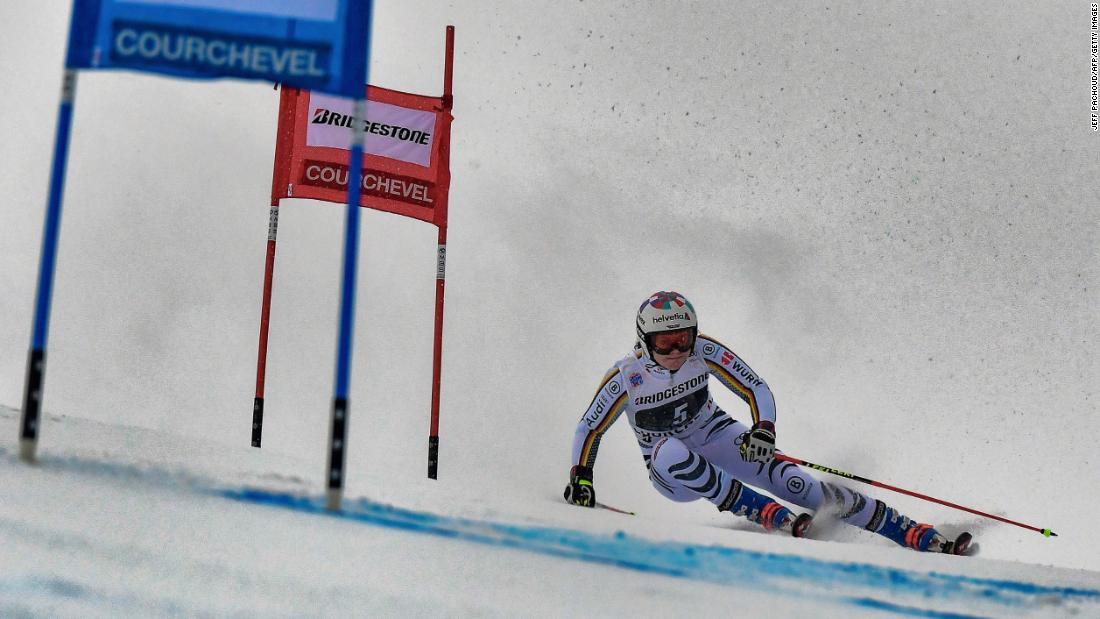 German skier Viktoria Rebensburg competes in the Women's Giant Slalom at the FIS Alpine World Cup on December 21, in Courchevel, France. Rebensburg finished second in the competition.