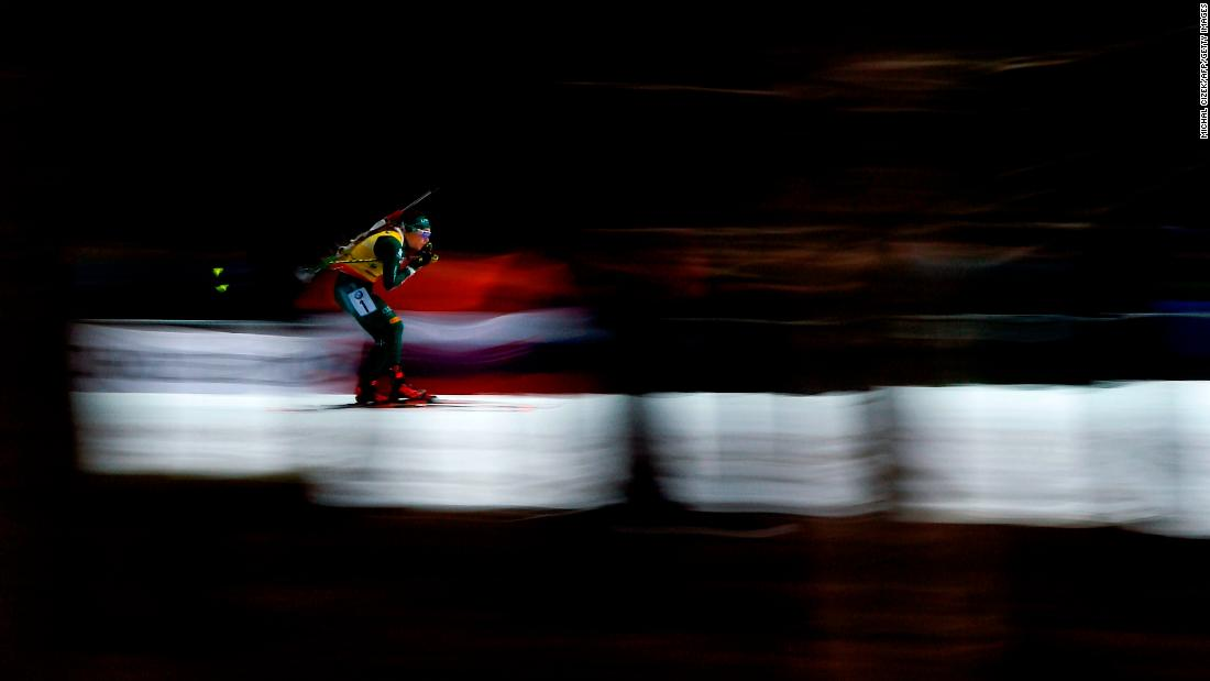 Dorothea Wierer of Italy competes during the Women's 12.5 Km Mass Start competition of IBU World Cup Biathlon in Nove Mesto, Czech Republic on December 23.