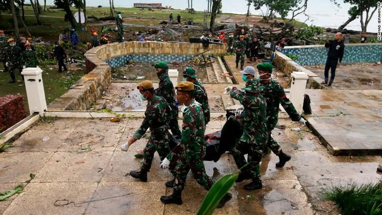 Image result for Indonesia tsunami: Grim search for survivors continues as death toll reaches 430