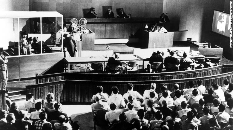 "Adolf Eichmann, the Holocaust's ""architect,"" goes on trial in Jerusalem in 1961 after Israel captured him."