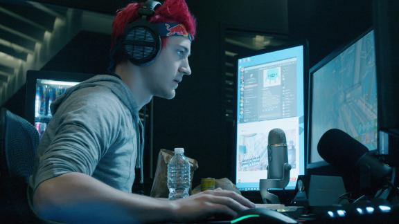 Tyler 'Ninja' Blevins streams himself playing the popular video game Fortnite. Blevins is considered one of the most popular video gamers in the world making over $500,000 per month playing the game.
