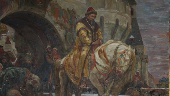 """The stolen painting, """"Secret Departure of Ivan the Terrible Before the Oprichina"""" by Mikhail Panin, was recovered in Connecticut after being missing for decades."""