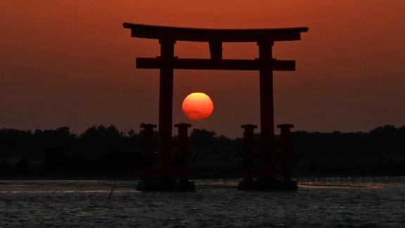 Hamamatsu, Japan: Visitors come to Bentenjima Island from mid-November to mid-January, when the setting sun is framed by the torii gate, creating marvelous shots like this one. Click through the gallery for the rest of the best travel photos of 2018: