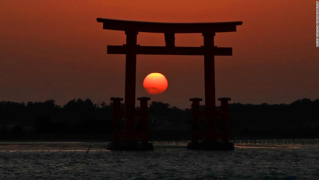 <strong>Hamamatsu, Japan:</strong> Visitors come to Bentenjima Island from mid-November to mid-January, when the setting sun is framed by the torii gate, creating marvelous shots like this one. Click through the gallery for the rest of the best travel photos of 2018:<br />