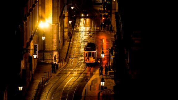 Lisbon, Portugal: A popular way to explore the Portuguese capital is to ride its distinctive yellow trams around the city