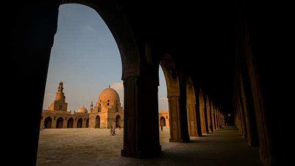 Cairo, Egypt: The mosque of Ibn Tulun is the oldest mosques in the Egyptian capital of Cairo standing in its original form.