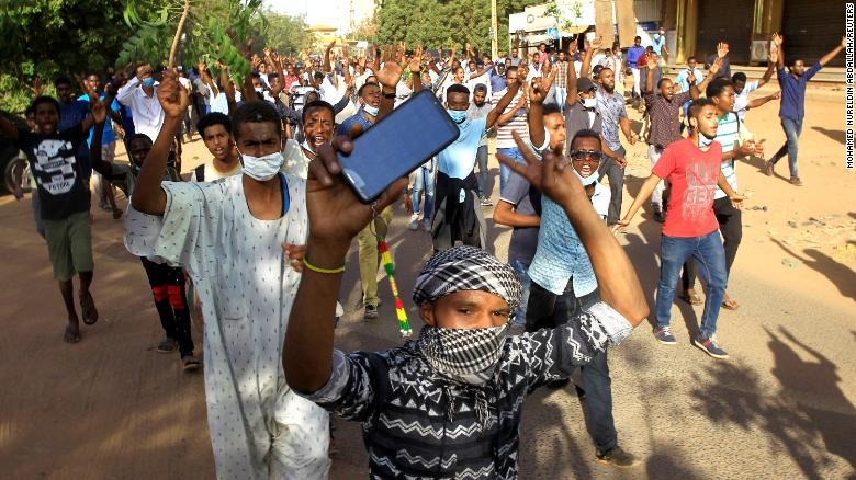 Protests erupted in Sudan last December.