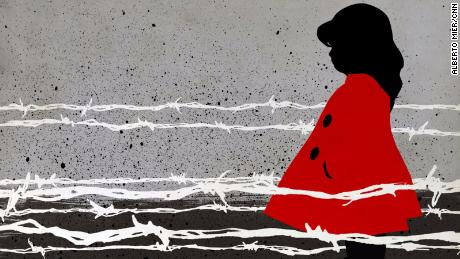 A child's red coat fading from her father's view is a chilling reminder of the horrors of the Holocaust.