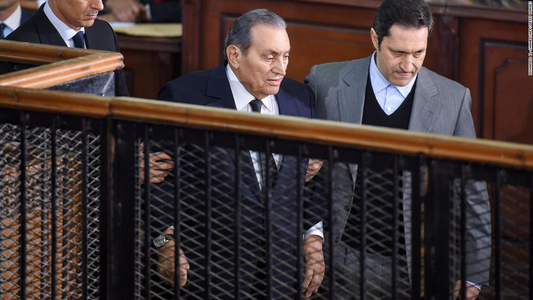 egypt s hosni mubarak testifies in the trial of his ousted successor