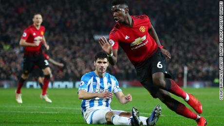 Paul Pogba found goalscoring form for Manchester United in the Old Trafford victory over Huddersfield Town.