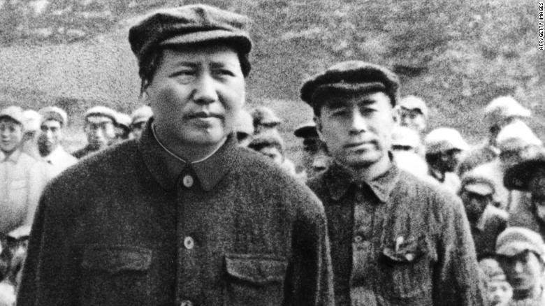 Chinese Communist leaders Mao Zedong and Zhou Enlai, pictured four years before the People's Republic of China was founded. Experts say Xi will seek to tie his legacy to the former Chinese leaders.