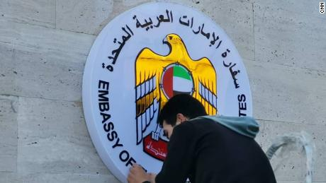 The UAE said the embassy's reopening is intended to help restore relations with Syria.