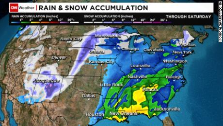 Weather Map For Louisiana.Winter Storm Severe Weather System That Has Already Killed 6 Moves