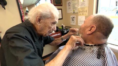 Anthony Mancinelli set the world record for being the oldest practicing barber.