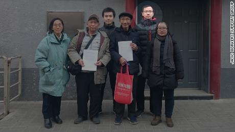 Qiu Shanxuan, president of the Peking University Marxist Society, on December 17 in a photo published by the Jasic Workers Support Group.