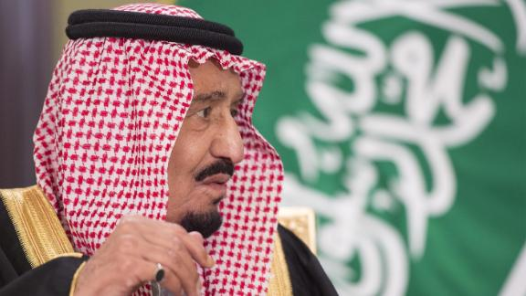King of Saudi Arabia, Salman bin Abdulaziz Al Saud in Kuwait City, Kuwait, on December 8, 2016.