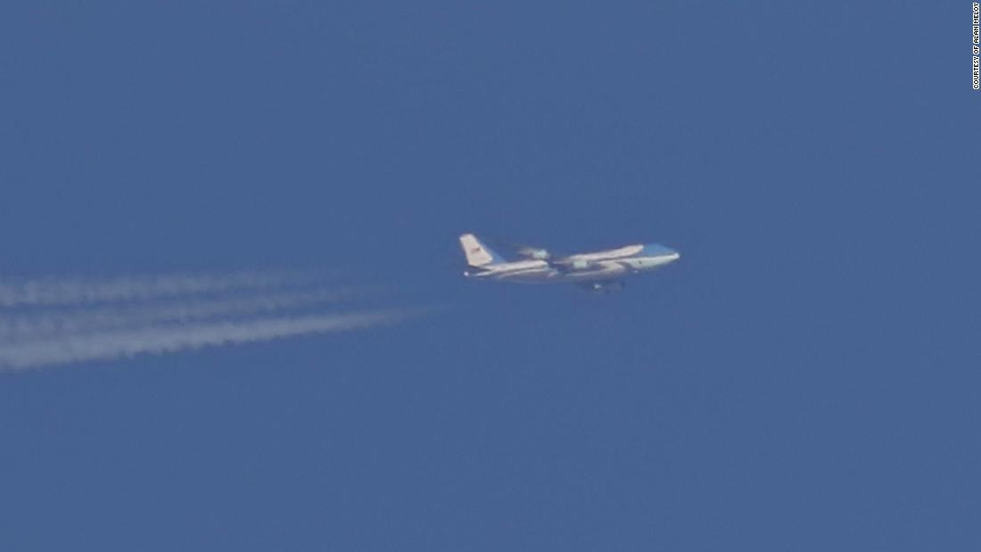 "Air Force one is <a href=""https://www.cnn.com/2018/12/27/politics/donald-trump-secret-trip-iraq/index.html"" target=""_blank"">seen flying over Sheffield, England</a>, on Wednesday, December 26. The Boeing VC-25 jet was <a href=""https://www.cnn.com/2018/12/27/politics/donald-trump-secret-trip-iraq/index.html"" target=""_blank"">carrying President Donald Trump and the first lady</a> en route to Iraq where they made a surprise holiday visit to US troops."
