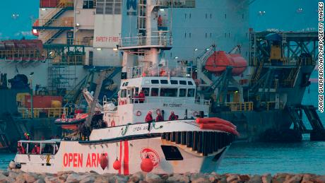 Open Arms arrives in the southern Spanish port of Algeciras on Friday morning.