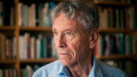 Amos Oz, one of Israel's most prominent and prolific authors, at his house in Tel Aviv in 2015