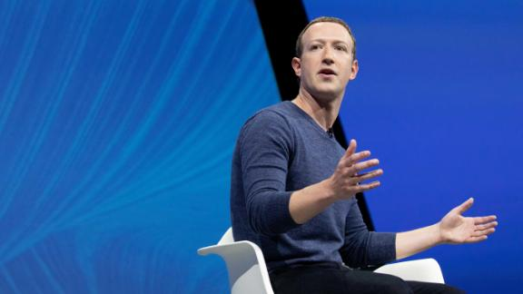 Mark Zuckerberg attends the Viva Tech start-up and technology gathering at Parc des Expositions Porte de Versailles on May 24, 2018 in Paris, France.