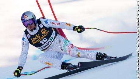 Dominik Paris of Italy wins the men's super-G at Bormio on the Stelvio course to complete a double at the venue.