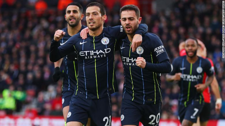 David Silva put Manchester City on the way to victory at Southampton by scoring an early opener.
