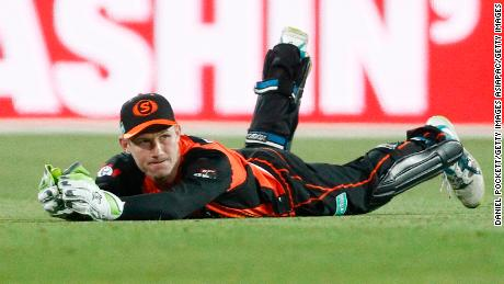 Bancroft catches out Canes' Matthew Wade.