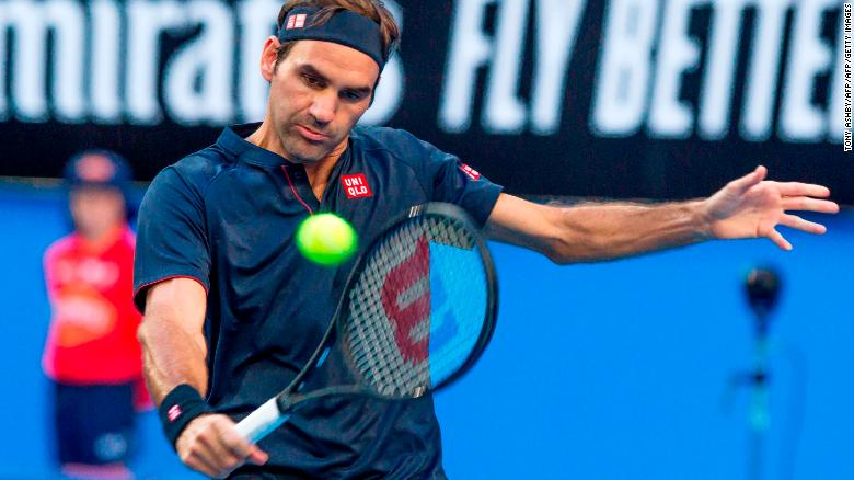 13a63e70 Can young gun finally topple Roger Federer starts 2019 strong -- but ...