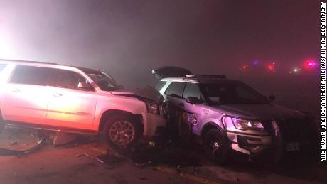 Dense fog may have played a role in a multivehicle accident near Austin.