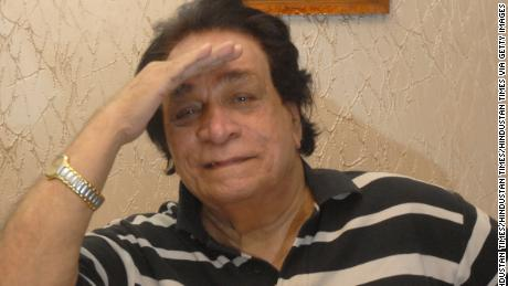 Bollywood actor Kader Khan poses for picture at his home on October 18, 2013 in Mumbai, India.
