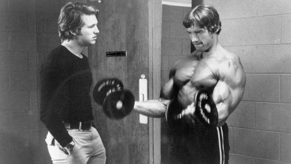 "Bridges stars with Arnold Schwarzenegger in 1976's ""Stay Hungry."""