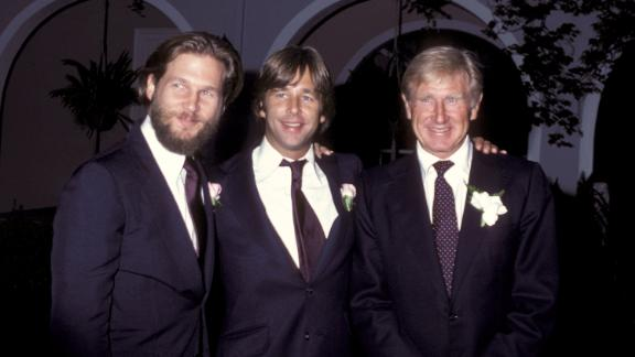 Bridges, left, takes a photo with his brother and his father during his sister Cindy's wedding in 1979.