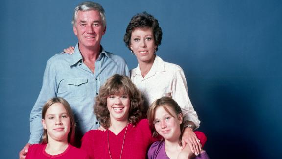 In 1979, Burnett poses with her second husband, Joseph Hamilton, and their daughters Erin, Carrie and Jody. Burnett and Hamilton divorced in 1984. She married her third husband, Brian Miller, in 2001.