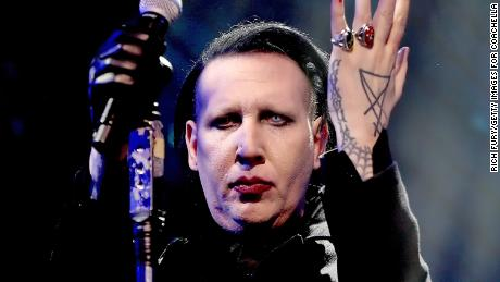 Marilyn Manson performing at the 2018 Coachella Valley Music and Arts Festival.