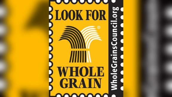 """""""Look for Whole Grains"""" stamp created by Oldways Whole Grains Council"""