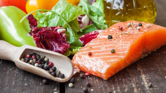 Fatty fish, such as salmon, are a must on the Mediterranean diet.