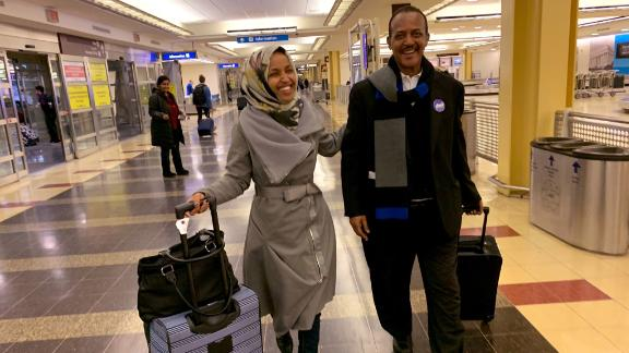 23 years ago, from a refugee camp in Kenya, my father and I arrived at an airport in Washington DC.  Today, we return to that same airport on the eve of my swearing in as the first Somali-American in Congress.  #Hope #Ilhan