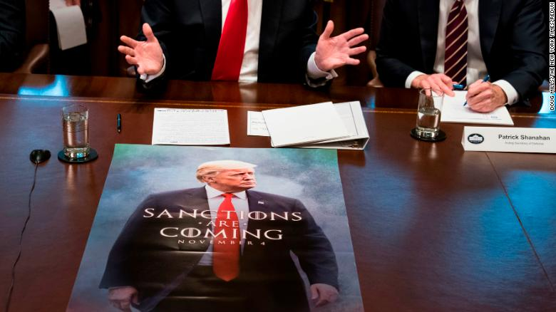 """A """"Game of Thrones""""-style poster <a href=""""https://www.cnn.com/videos/politics/2019/01/03/donald-trump-game-of-thrones-cabinet-meeting-moos-pkg-ebof-vpx.cnn"""" target=""""_blank"""">sits in front of US President Donald Trump</a> as he meets with Cabinet members at the White House on Wednesday, January 2. While cameras were rolling, the President made no reference to the poster, <a href=""""https://www.cnn.com/2018/11/02/entertainment/hbo-trump-game-of-thrones/index.html"""" target=""""_blank"""">which we first saw in November.</a>"""