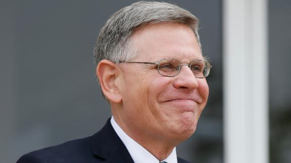 In this Tuesday, Sept. 12, 2017, file photo, Kelvin Droegemeier, then Oklahoma Secretary of Science and Technology, grins in Oklahoma City. Droegemeier has been nominated to be director of the White House Office of Science and Technology.