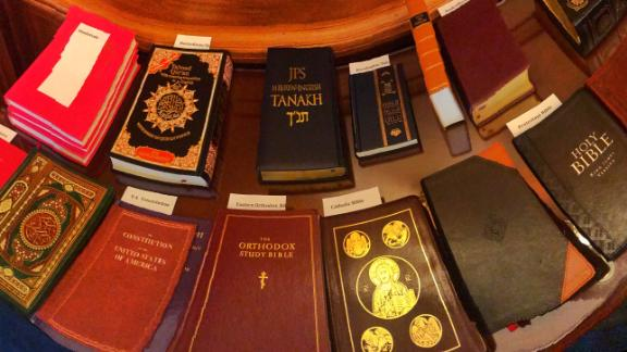 Religious books used Thursday for congressional swearing-in ceremonies.