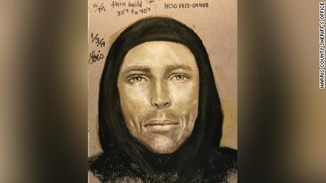 Harris County Sheriff's Office sketch of a suspect in the drive-by shooting death of 7-year-old Jazmine Barnes.
