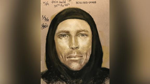 Harris County Sheriff's Office released a sketch of a suspect in the drive-by shooting deat hof 7-year-old Jazmine Barnes